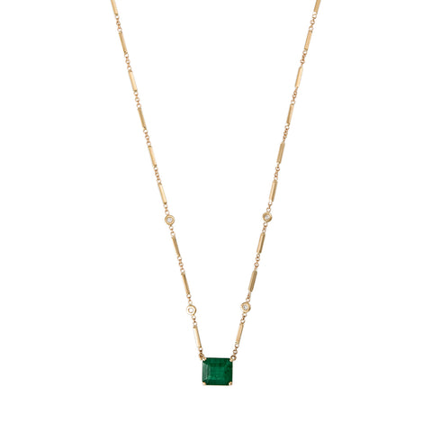 EMERALD SQUARE CENTER NECKLACE