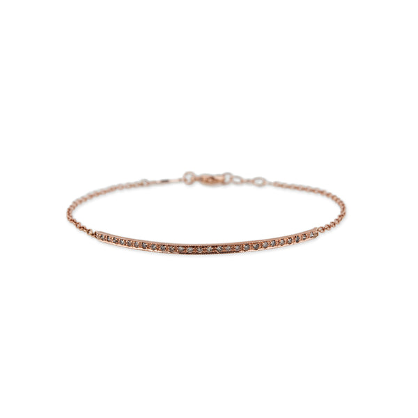 PAVE DIAMOND BAR + CHAIN BRACELET