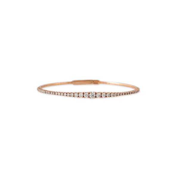 GRADUATED DIAMOND BENDY BRACELET