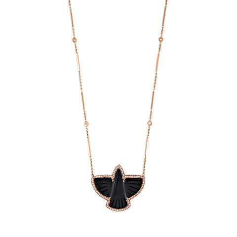 PAVE BLACK THUNDERBIRD NECKLACE
