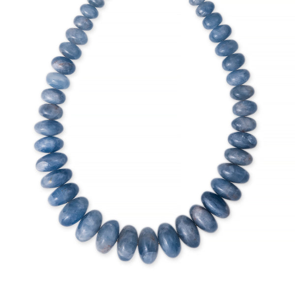 GRADUATED SMOOTH CALCITE BEADED NECKLACE