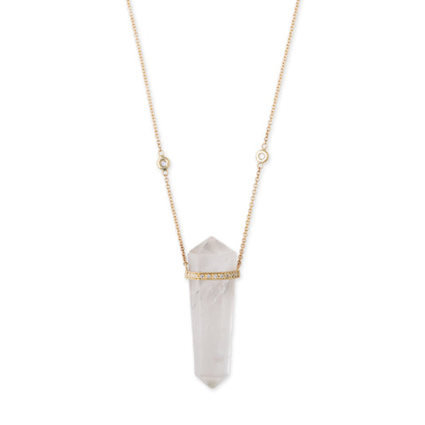 QUARTZ CRYSTAL DOUBLE POINT NECKLACE