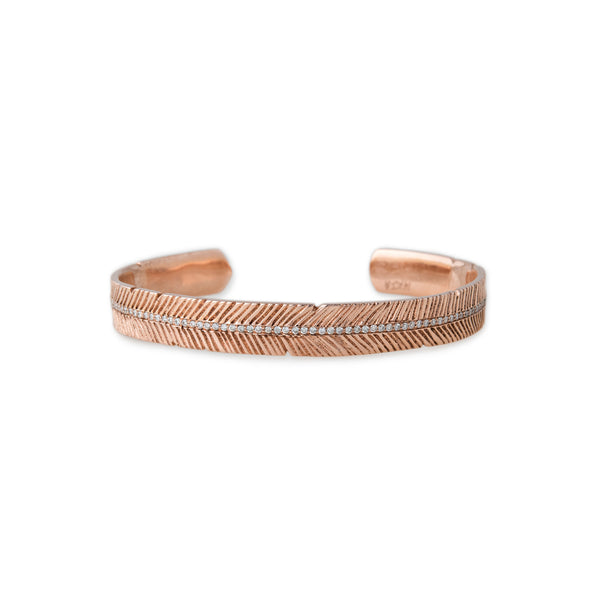 PAVE GOLD FEATHER CUFF