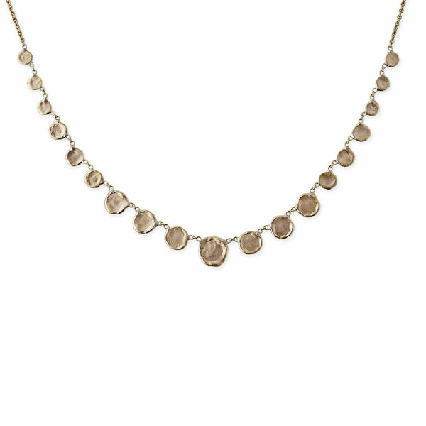 GRADUATED DISC NECKLACE