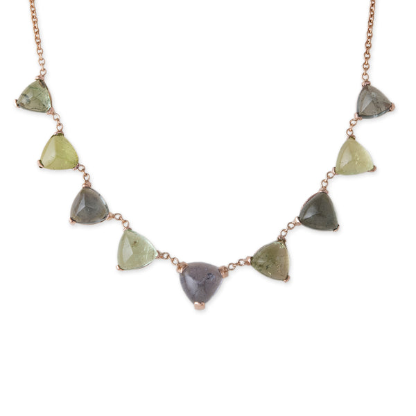 TRILLION GREEN TOURMALINE NECKLACE