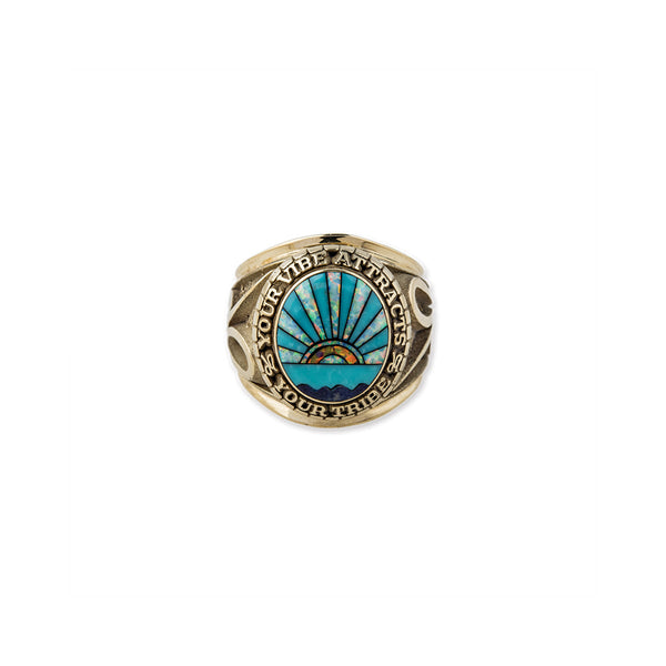 SUNSHINE INLAY CLASS RING