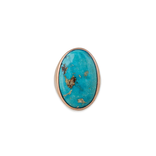 XL OVAL TURQUOISE RING