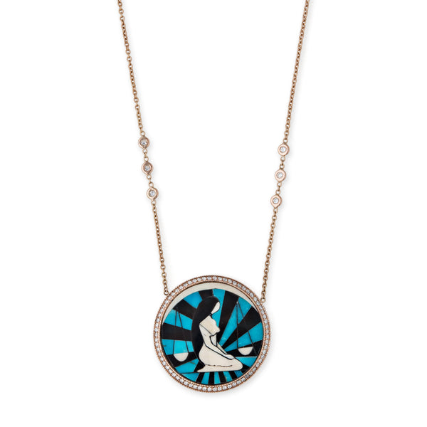 LIBRA INLAY NECKLACE