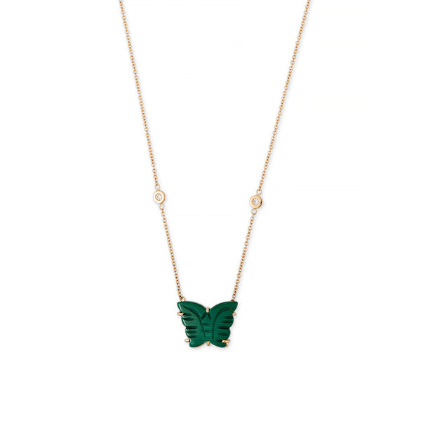 MALACHITE BUTTERFLY NECKLACE