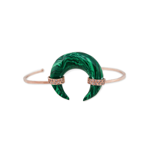 MALACHITE BONE HORN CUFF