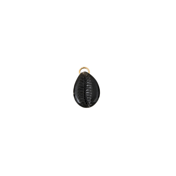 ONYX COWRIE SHELL CHARM