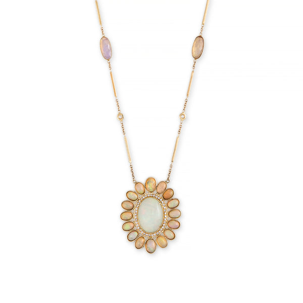 OPAL BLOSSOM NECKLACE