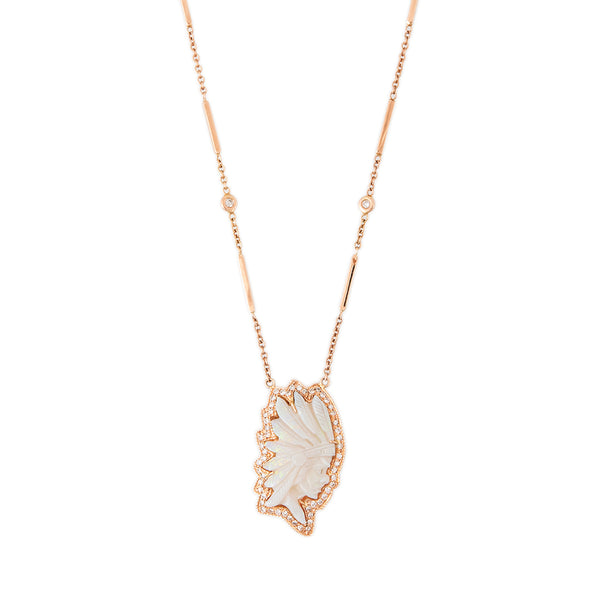 PAVE WHITE OPAL CHIEF NECKLACE