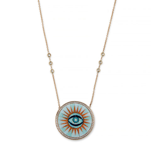 OPAL INLAY EYE BURST NECKLACE