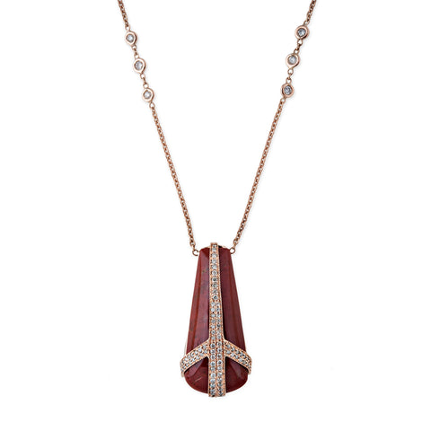 SUNSTONE TEARDROP PEACE NECKLACE