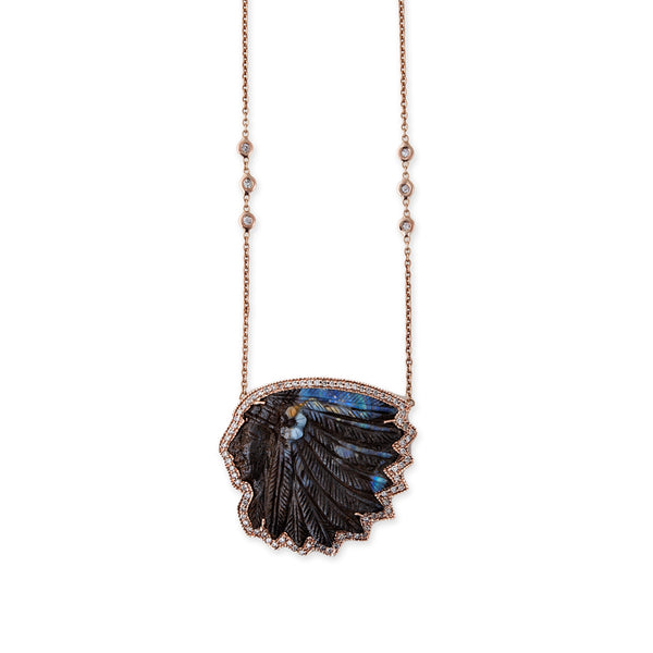 BOULDER FLOWER CHIEF NECKLACE