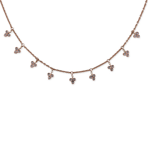 DIAMOND CLUSTER SHAKER NECKLACE