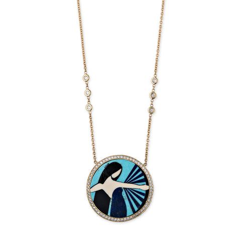 SAGITTARIUS INLAY NECKLACE