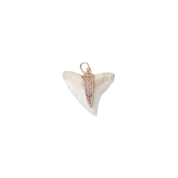 PAVE SHARK TOOTH CHARM