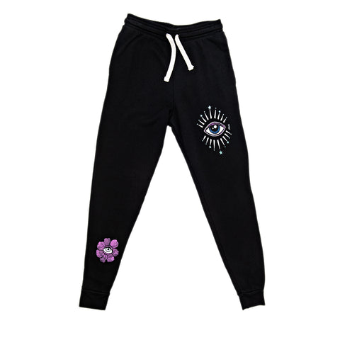 STAR EYE BURST BLACK SWEATPANTS