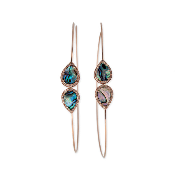 MIRRORED ABALONE HOOPS