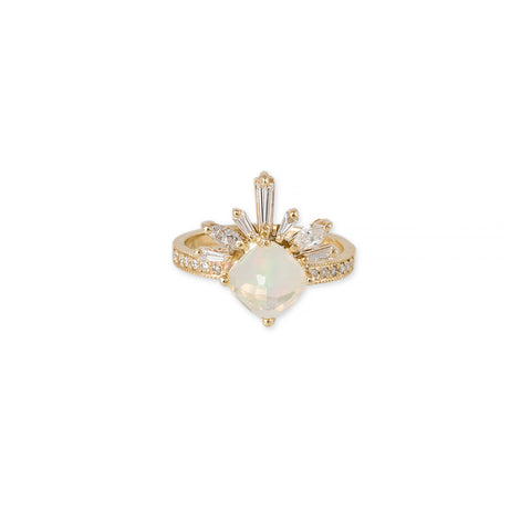 KITE OPAL BAGUETTE MARQUISE DIAMOND LASH RING