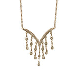 PAVE V DIAMOND SHAKER NECKLACE