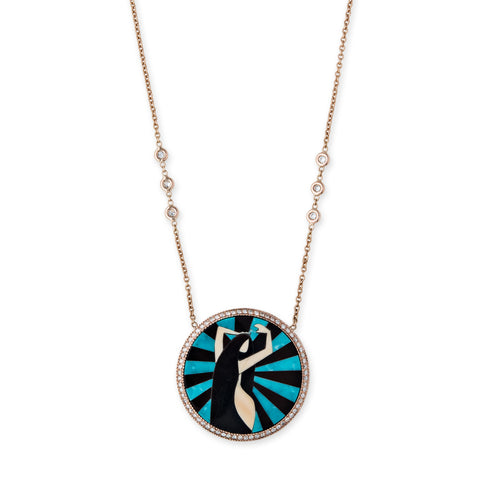VIRGO INLAY NECKLACE