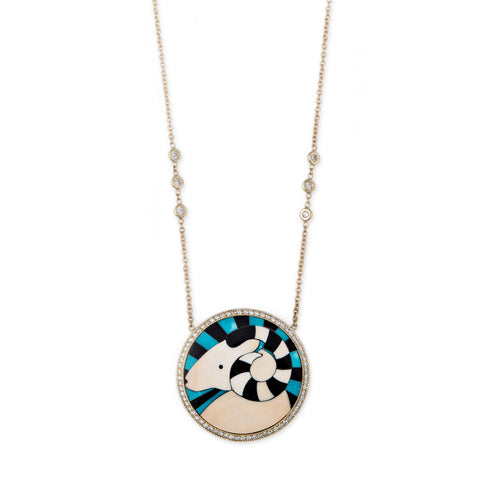 ARIES INLAY NECKLACE