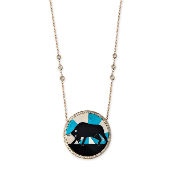 TAURUS INLAY NECKLACE