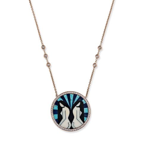 GEMINI INLAY NECKLACE