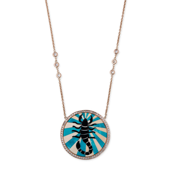 SCORPIO INLAY NECKLACE
