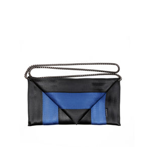 Clutch Black Blue with chain