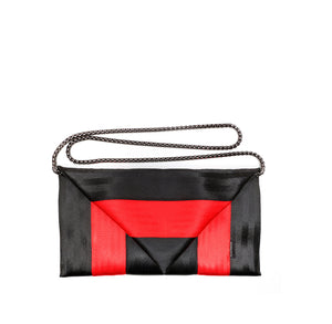 Clutch Black Red with chain