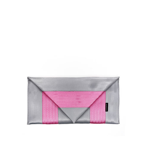 Clutch Silver Pink front
