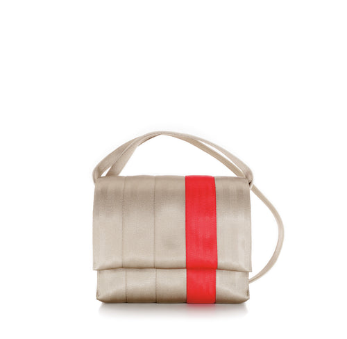 Crossbody Gold Red front