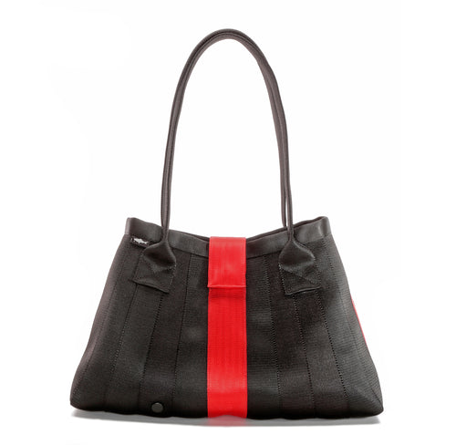 Handbag Black Red front