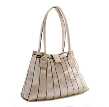 Load image into Gallery viewer, Handbag Gold Black stripe left