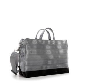 Holdall Silver Grey Black left