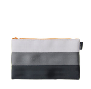 L Pencil case White Grey Black mustard yellow zip back