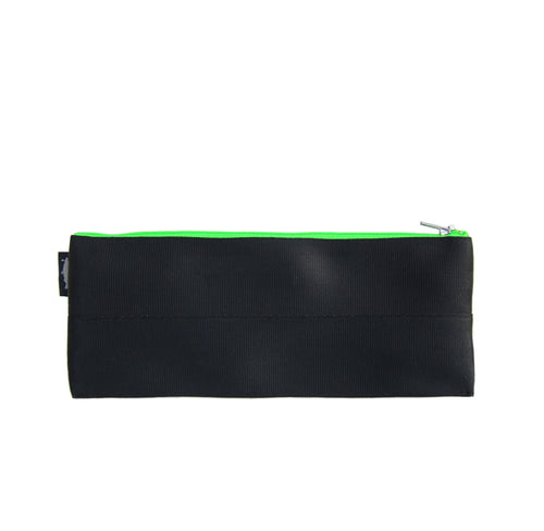 M Pencil case Black neon green zip front