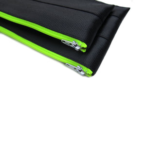 M Pencil case Black neon yellow zip 3