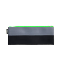 Load image into Gallery viewer, M Pencil case Grey Black neon green zip front