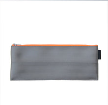 Load image into Gallery viewer, M Pencil case Grey neon orange zip back