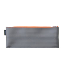 Load image into Gallery viewer, M Pencil case Grey neon orange zip front