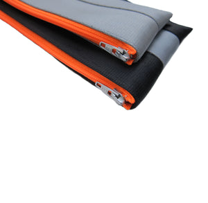 Pencil case neon orange zip 3