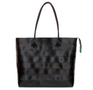 Shopper Tote Black Green front