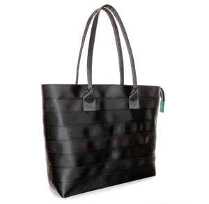 Shopper Tote Black Green left