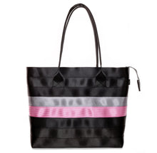Load image into Gallery viewer, Shopper Tote Black Grey Pink front
