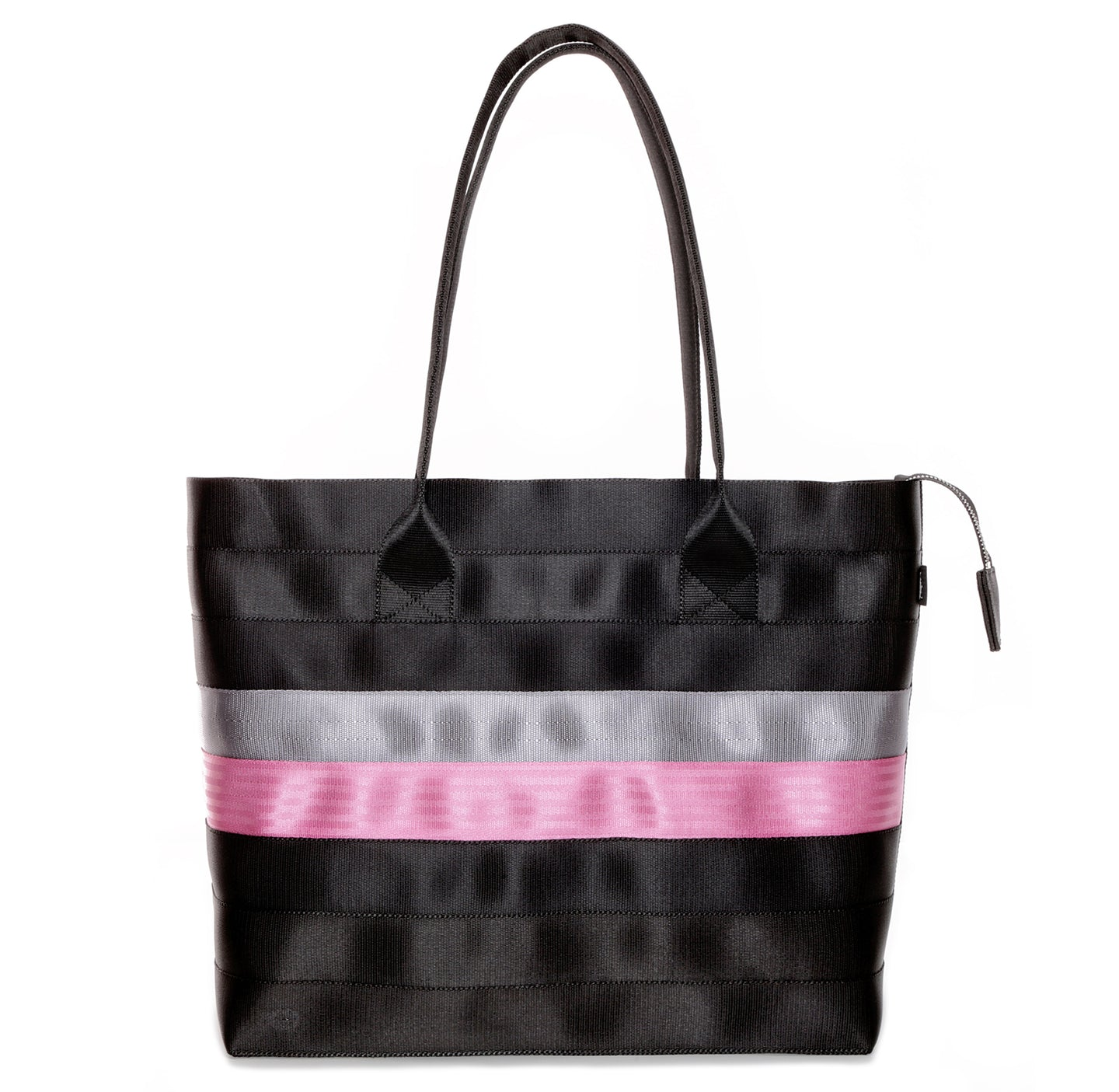 Shopper Tote Black Grey Pink front